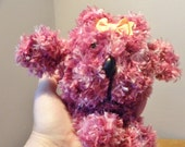 """Hand Knitted 7"""" Gonk - Pink Knitted Teddy - Hand Made Gonk"""