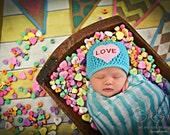 Newborn Baby Girl Photo Prop Valentine Hat