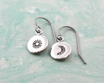 Moon Earrings, Moon Jewelry, Sun Earrings, Sun Jewelry, Boho Earrings, Native Jewelry, Tribal Jewelry, Celestial Earrings, Celestial Jewelry