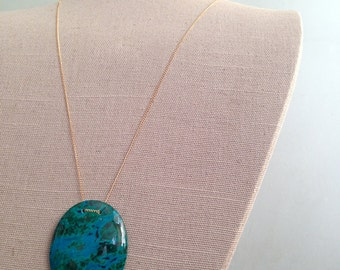 Chrysocolla Pendant Necklace Chrysocolla Necklace Chrysocolla Jewelry