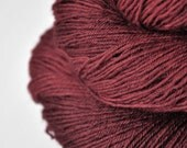 Mahogany hair dye OOAK - BFL Sock Yarn superwash