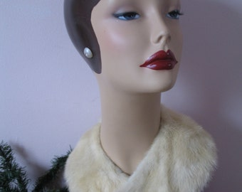 1950's Blond Mink Fur Collar, sweater or coat collar