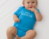 Periodic Table Onesie - MADE BY GENIUSES (Turquoise) - Periodic Table Inspired Baby Creeper