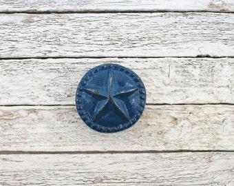 Nautical Blue,Nautical Decor,Star Knobs,Nautical Baby Shower,Blue Knobs,Beach Decor,Nautical Bathroom,Sailing Decor,Seaside Beach Home-White