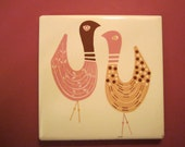 Mid Century Modern Bird - Mosaic Tile Company of Zanesville Ohio - Art Wall Tile or Trivet