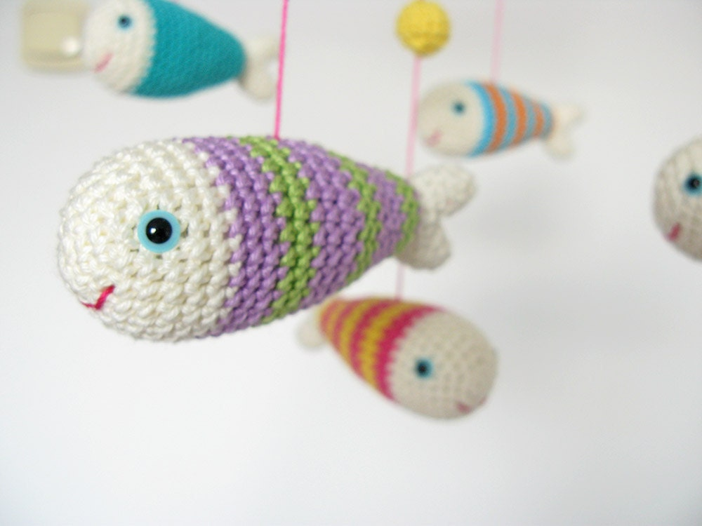 Are Amigurumi Safe For Babies : Crochet Mobile Amigurumi Baby Mobile Fish Mobile Crib