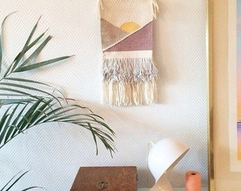 Handmade Weaving, Wall Hanging, Woven Tapestry