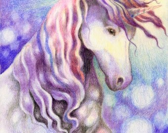 Sparkle - Unicorn Fantasy Art Print