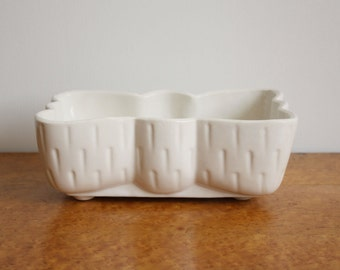 Vintage Ivory Bow Shaped Upco Planter Pot Vase