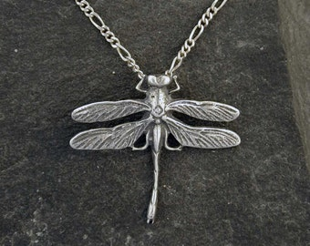 Sterling  Silver Dragonfly Pendant on a Sterling Silver Chain