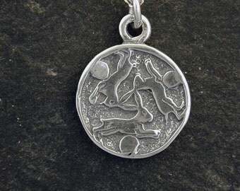 Sterling Silver Bunny Rabbit Pendant on a Sterling Silver Chain