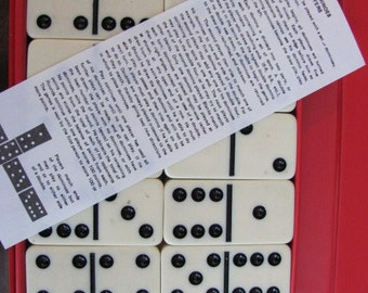 """Vintage 70's """"Domino"""" by Cardinal Set - Large Domino Tiles - Dots - Chip Game - Game Night - Dominoes - Travel Game - Domino Tile Game"""