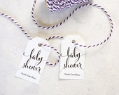 Baby Shower Favor Tags, Shower Prize Tag, Thank You Gift Tag, Personalized, Diy Shower - Set of 25 (SMGT-CAN-BST)