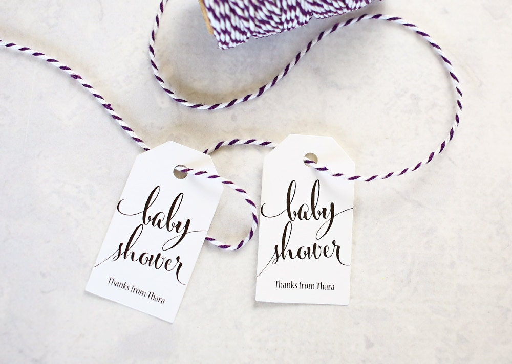 baby shower favor tags shower prize tag thank you gift tag