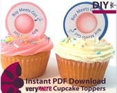 DIY Boy Meets Girl Sperm and Egg Cupcake Toppers Digital Download