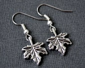 Silver Maple Leaves . Earrings