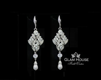 Pearl Bridal earrings,  Bridal Jewelry