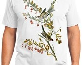 Tree Sparrow Bird Retro Men & Ladies T-shirt - Gift for Bird Lovers and Ornithologist (idc188)