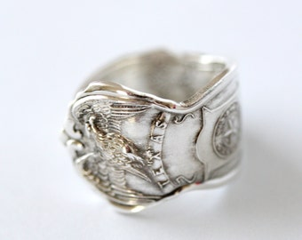 Vintage Spoon Ring- US State Collection