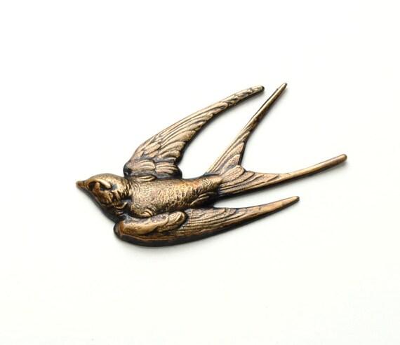 Bird Jewelry SOARING VICTORIAN BIRD Brooch Pin Wing Jewelry Bird In Flight Swallow Nature Inspired Victorian Jewelry Victorian Curiosities