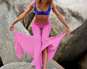 Pink and White Stripe Festival Pants