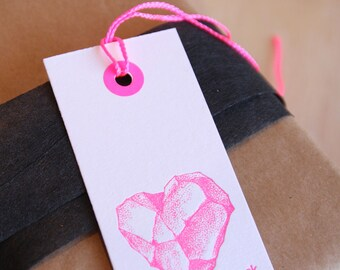 Gift tag, bookmark, geo, geologist, You rock,  occasion gift tags in neon pink and black Valentine's Day, Mother's day, any day, any x6