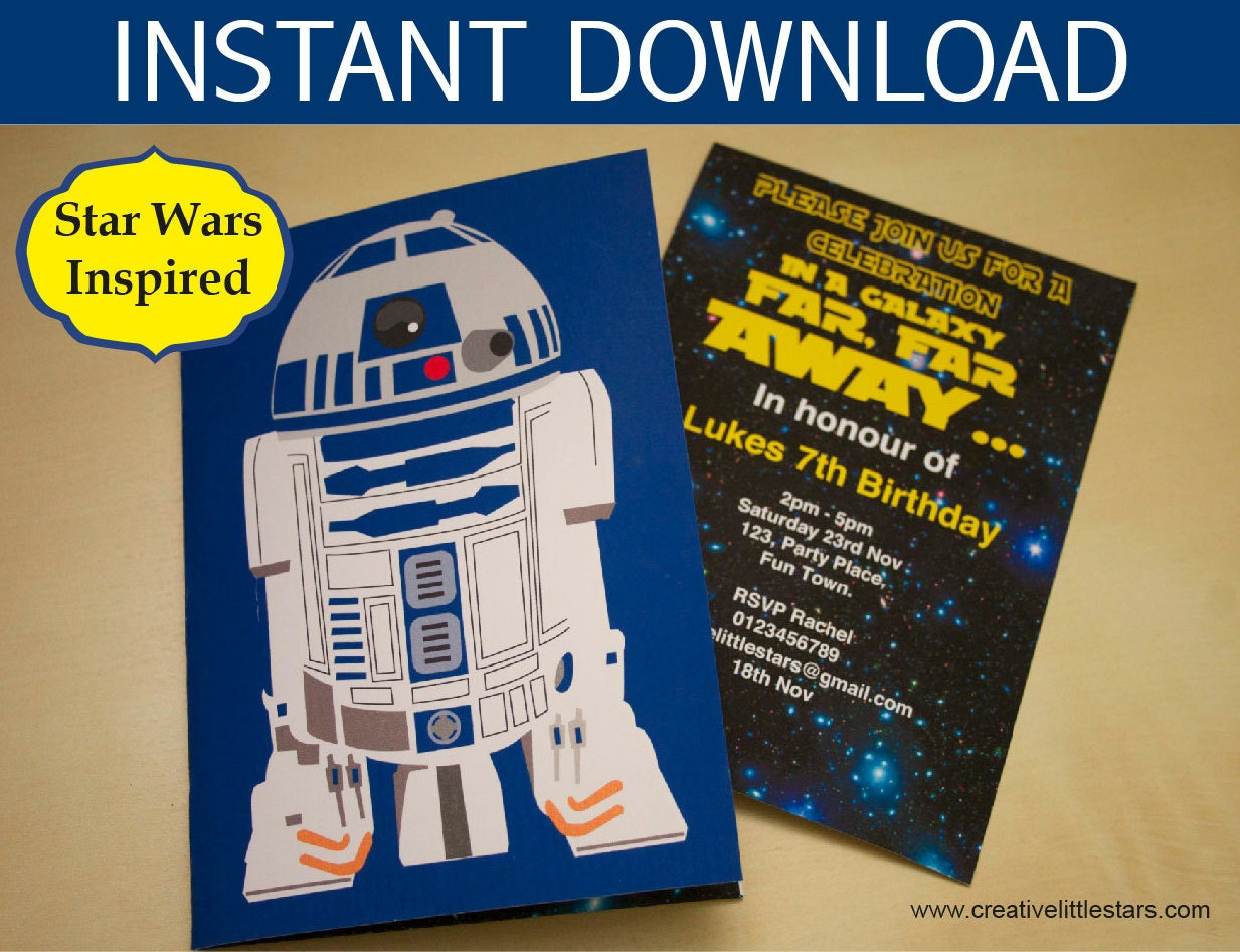 Star Wars Party Invitations Gangcraftnet - Star wars birthday invitation diy