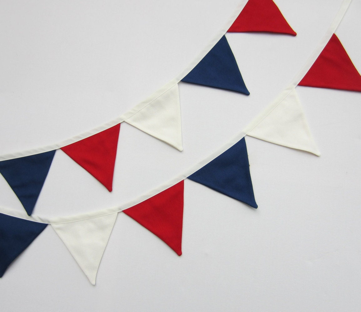 red white and blue mini bunting mini flag banner mini fabric. Black Bedroom Furniture Sets. Home Design Ideas