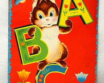 Vintage ABC ALPHABET Book.. M.E.T. Whitman Publishing Co. 951:10 .. 1949