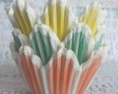 75 Mini Tulip Cupcake Liners - (25) each in Yellow,  Green and Orange, Mini Baking Cups, Pastry Cups, Professional Grade and Greaseproof