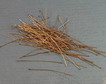"100 2"" Antiqued Brass Headpins"