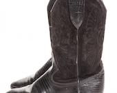 Short Woman Black Cowboy Boot Size 7