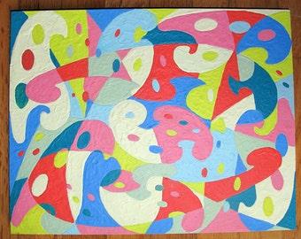 original fine art Encaustic Beeswax Modern Art Swirly