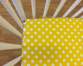 READY to SHIP- Crib Sheet-Crib Sheet- Cotton Crib Sheet- Polka Dot Crib Sheet