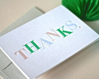 Thank You / Appreciation / Thanks Letterpress Card