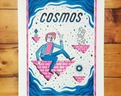 Carl Sagan's Cosmos - Science, Physics, Risograph Print