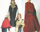 90s Simplicity Sewing Pattern 7438 Womens Capes and Wrap Size 18 20 22 24 Bust 40 42 44 46 UnCut Steampunk Cape Opera Cape Full Length Cape