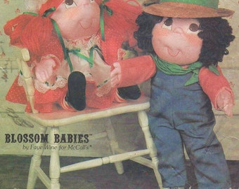 80s McCalls Crafts Sewing Pattern 8659 Blossom Babies Adorable 23 Inch Soft Sculptured Dolls by Faye Wine UnCut