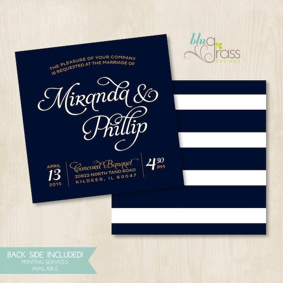 custom bridal shower wedding invitation by blugrass designs