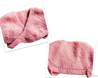 Baby Shoulderette Shawl Poncho Easy Knitting PDF Pattern Is not a finished product. It is a PDF Pattern with instructions to do it yourself.