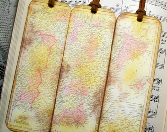 World map bookmark etsy spain and portugal bookmarks bookmark for man history buff circa 1850 gifts for gumiabroncs Images