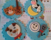 Hey Diddle Diddle Edible Cupcake Toppers - Set of 12