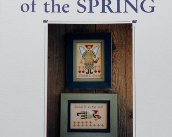 CLEARANCE Blue Whale Designs GUARDIANS of the SPRING - Counted Cross Stitch Pattern Chart