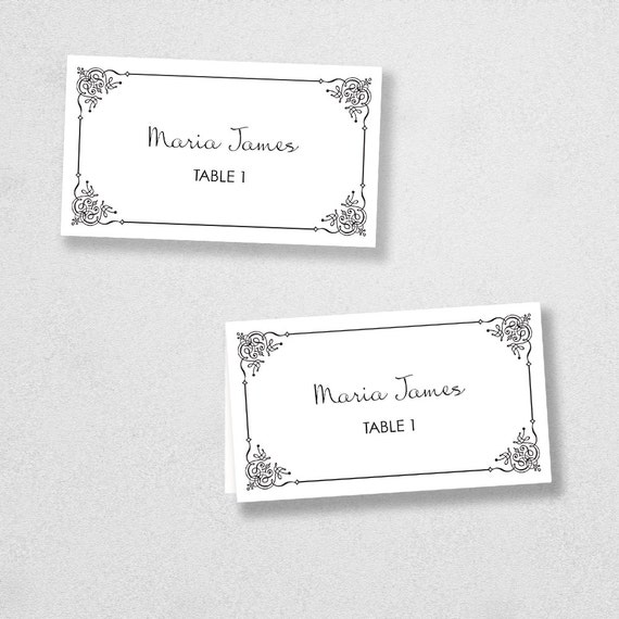 Avery Place Card Template - INSTANT DOWNLOAD - Escort Card - For Word ...