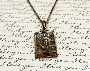 St. Agnes of Rome - Necklace For Men or Women - Made in the USA