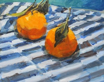 Tangerines and Blue Stripes