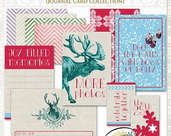 Holiday Blitzen Journal Cards by Papier Creatif - Printable Christmas Journal Cards
