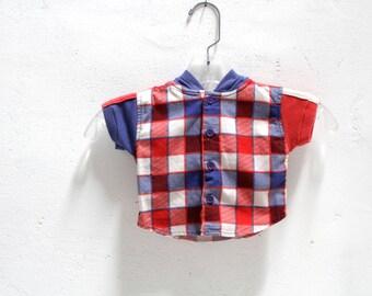 newborn 90s children's KRISS kross SKATER hoodie KIDS plaid grunge shirt