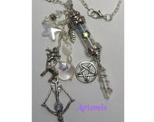 Artemis/Diana Amulet / Necklace Created to Order to Honor the Goddess