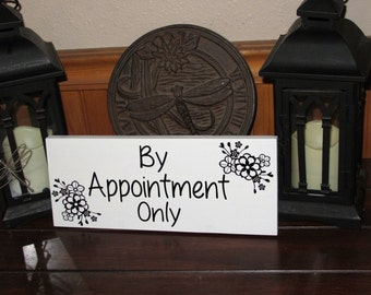 Office Sign, By Appointment Only Sign, Office Decor, Business Sign